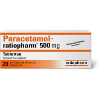 Paracetamol-ratiopharm 500mg Tabletten 20 ST - 1126111